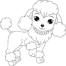 poodle coloring pages Free Printable Dogs and Puppies Coloring Pages for Kids | Inkleur  poodle coloring pages