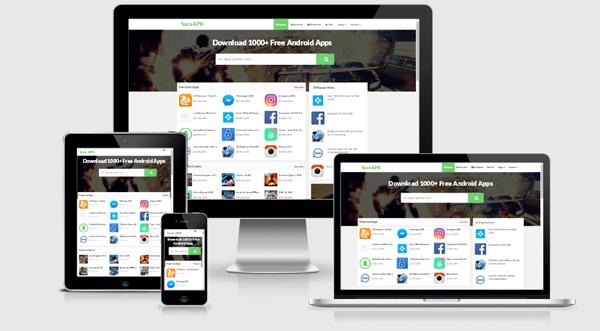 Sure APK Responsive Apps Download Blogger Template | Blogger