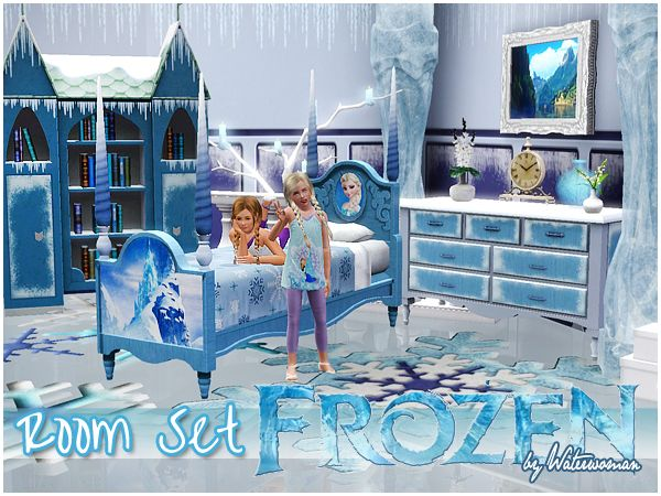 frozen bedroom furniture frozen room set by waterwoman free sims 3 furniture 11567