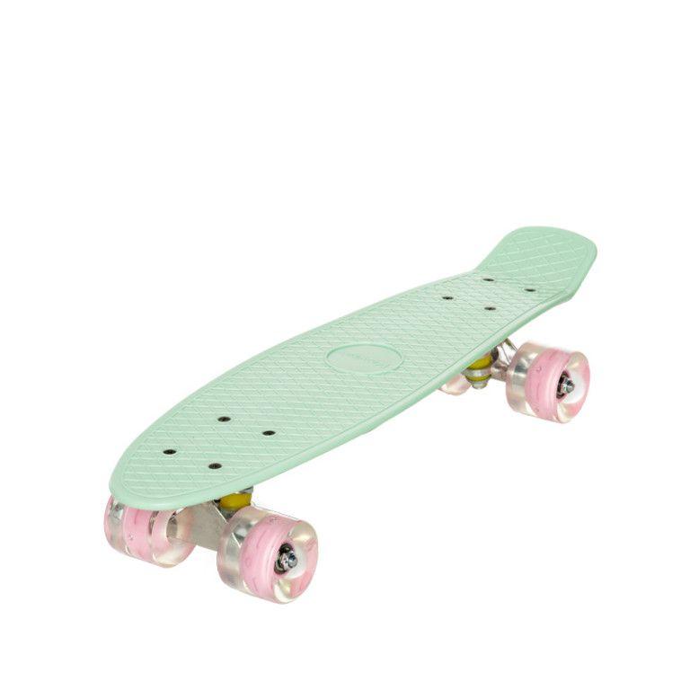 Deskorolka Fiszka Movino Led 56 Cm Mietowa Penny Board Skateboard Skateboards