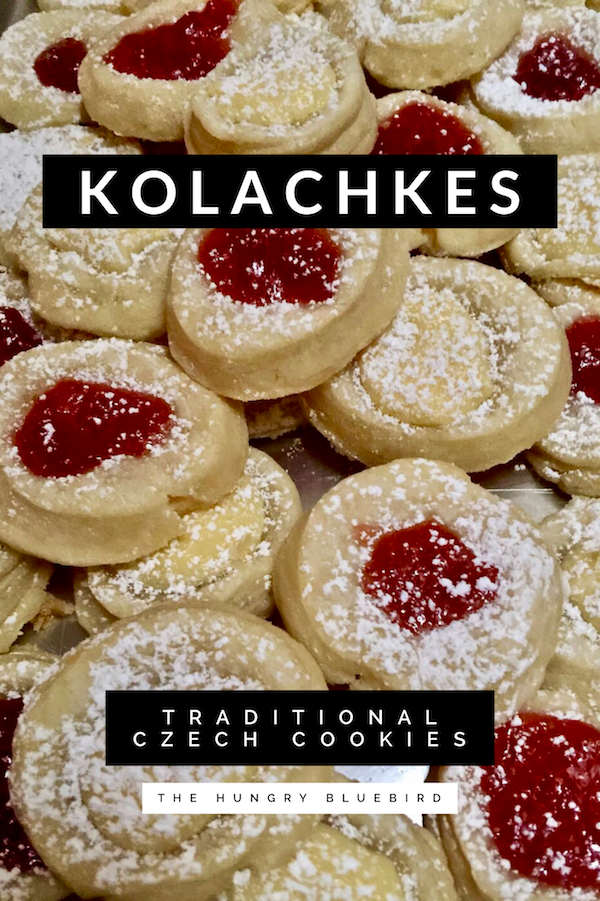 Kolachkes traditional Czech cookies filled with jam cheese or nuts