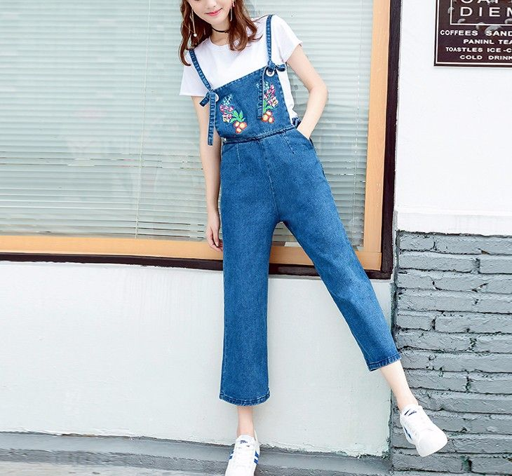 758d5351e0ee J8206  2017 New Model Women Jumpsuits Denim Enbroidery Ladies Jeans Pants  Stocks - Buy Women Jumpsuits
