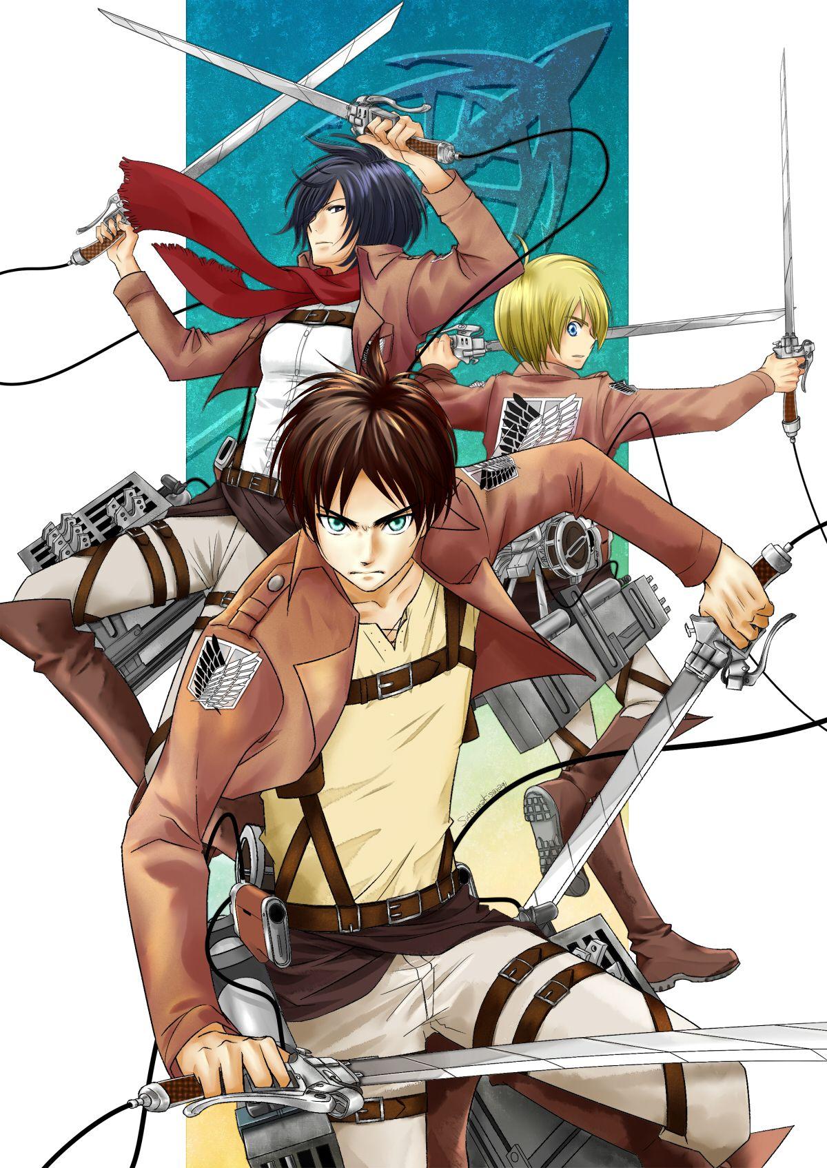Shingeki no Kyojin by 如月さつま Anime, Attack on titan