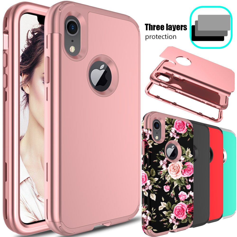 For apple iphone xr case shockproof hybrid tpupc armor