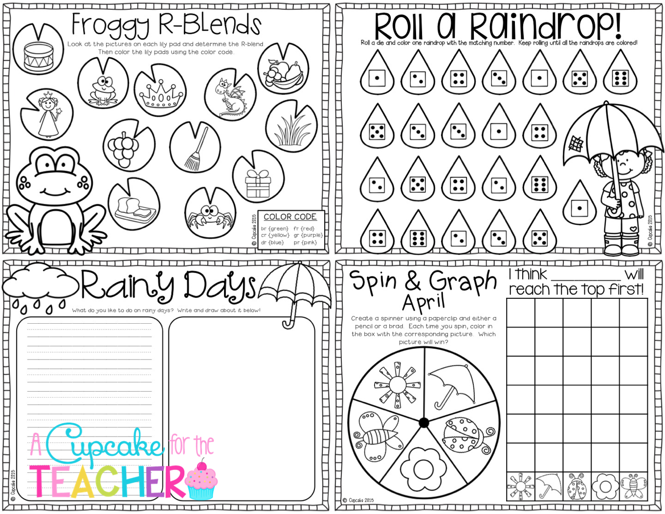 Printables For April Great For Fast Finishers Time