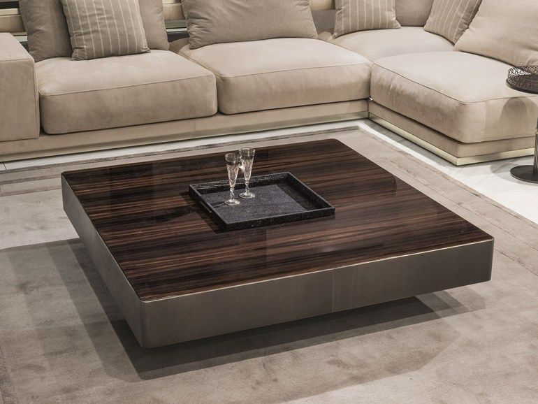 Square Wooden Coffee Table With Tray For Living Room Lonely