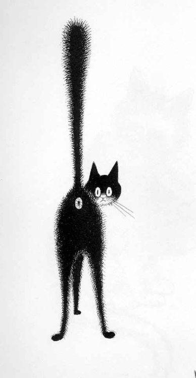 Troisième œil -  ink drawing, 1962  Albert Dubout