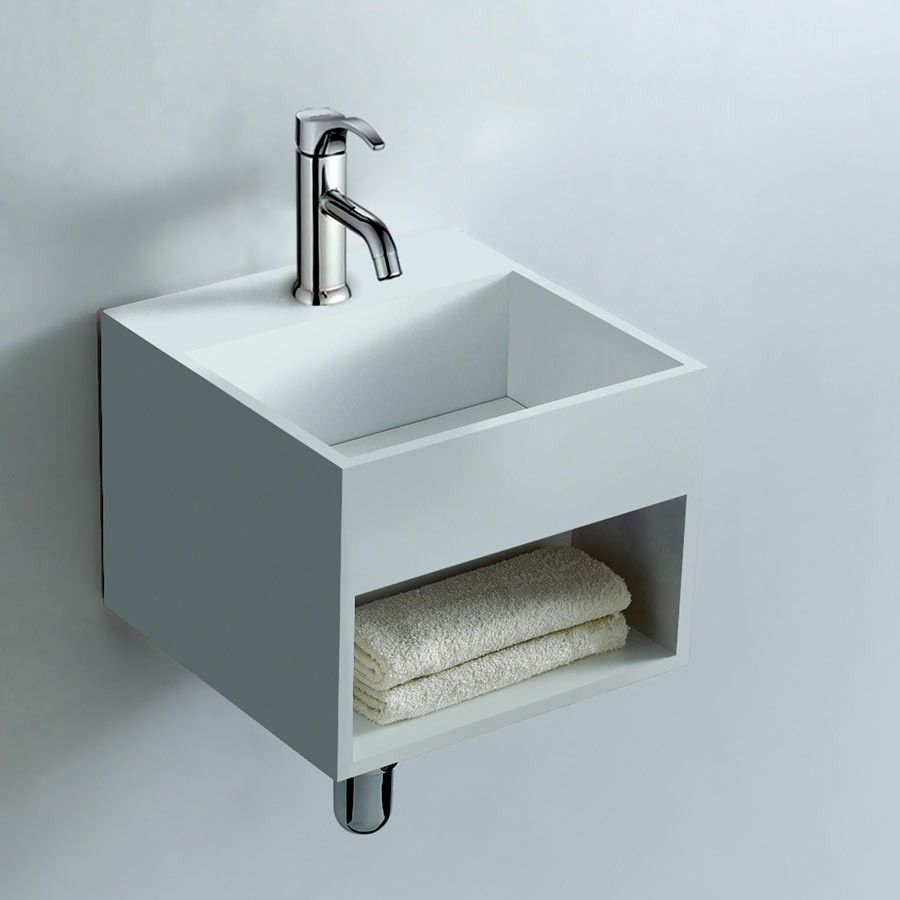 Small Wall Mount Sink Option Small Bathroom Idea Small Sink With