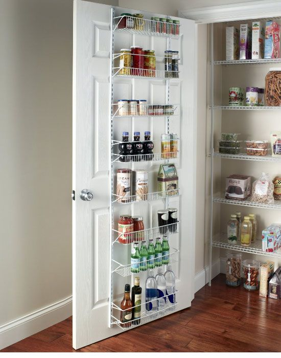 Adjustable 8 Tier Wall And Door Rack | Easy Kitchen Storage Ideas For Small  Spaces
