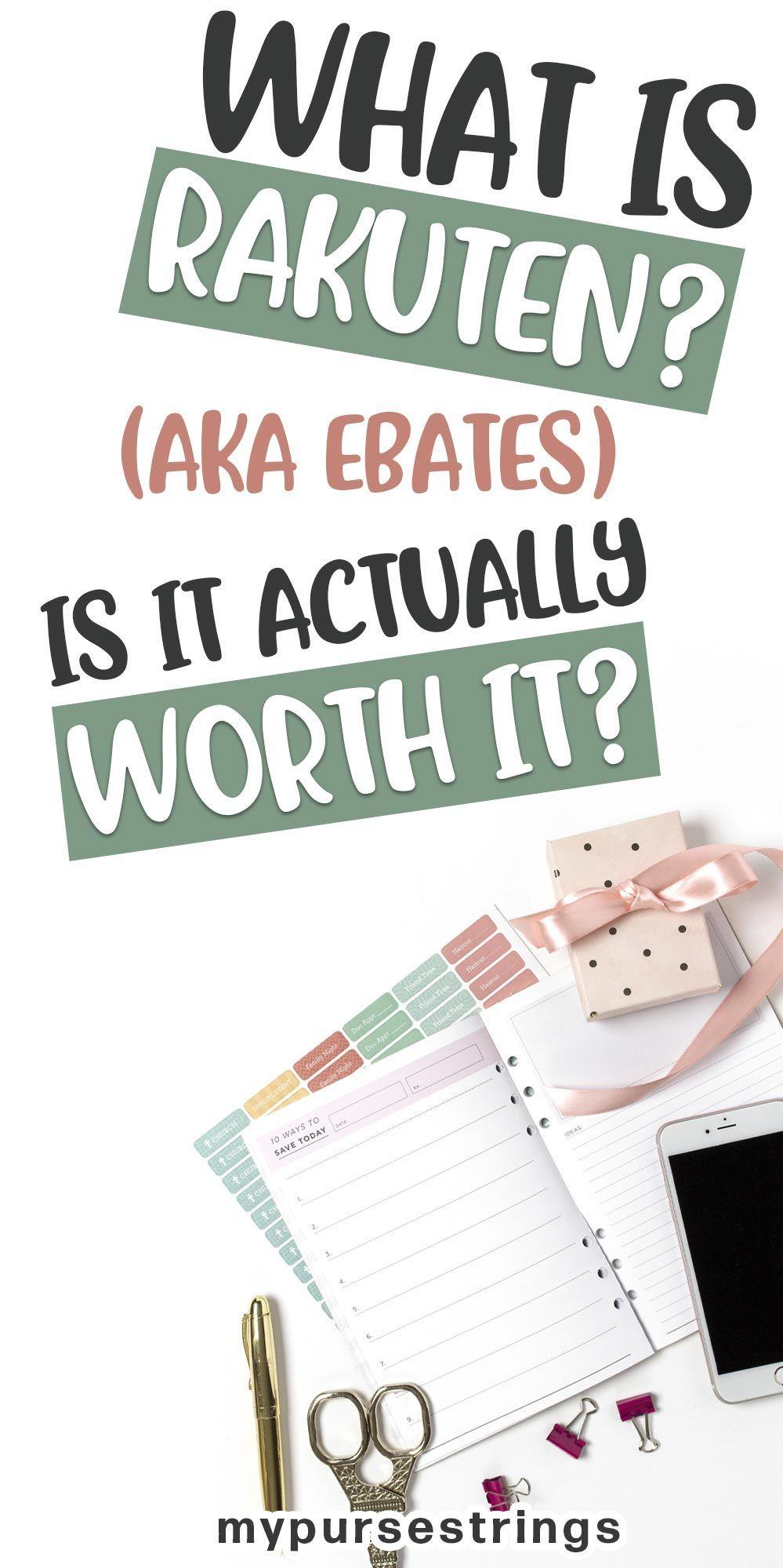 Why Aren't You Using Rakuten (formerly Ebates)? Money