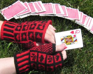Alice's Queen of Hearts gloves by Crystal Baer