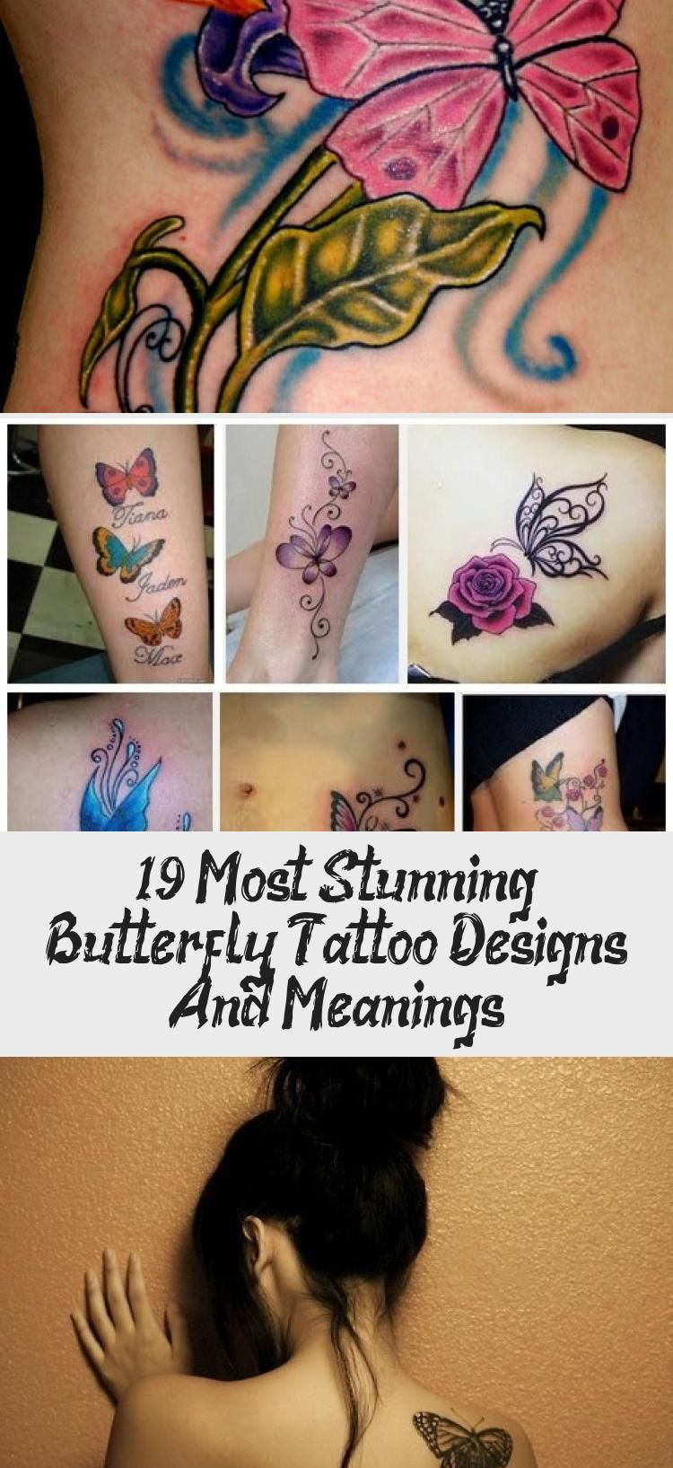 19 Most Stunning Butterfly Tattoo Designs And Meanings Design In 2020 Butterfly Tattoo Tattoos Tattoo Designs And Meanings