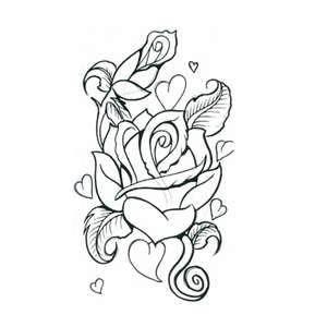 Cute Rose Body Art Tattoos Small Heart Tattoos Tattoos