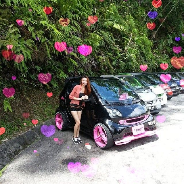 Very in love with this pink #fortwo #smartcar – Instagram picture by @viiko_xin