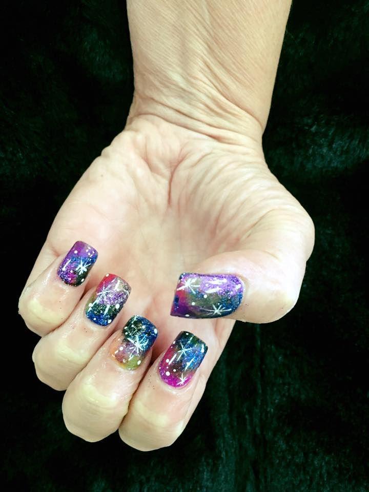 45 Beautiful Galaxy Nail Art Design Ideas   Makeup   Pinterest ...