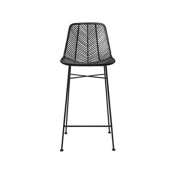 Peachy Tabouret De Bar En Rotin Noir Bloomingville En 2019 Camellatalisay Diy Chair Ideas Camellatalisaycom