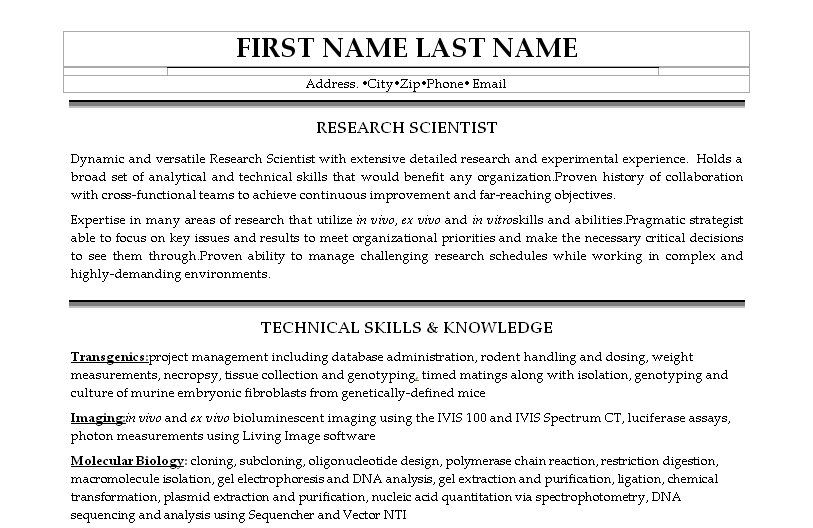 Click Here To Download This Research Assistant Resume Template