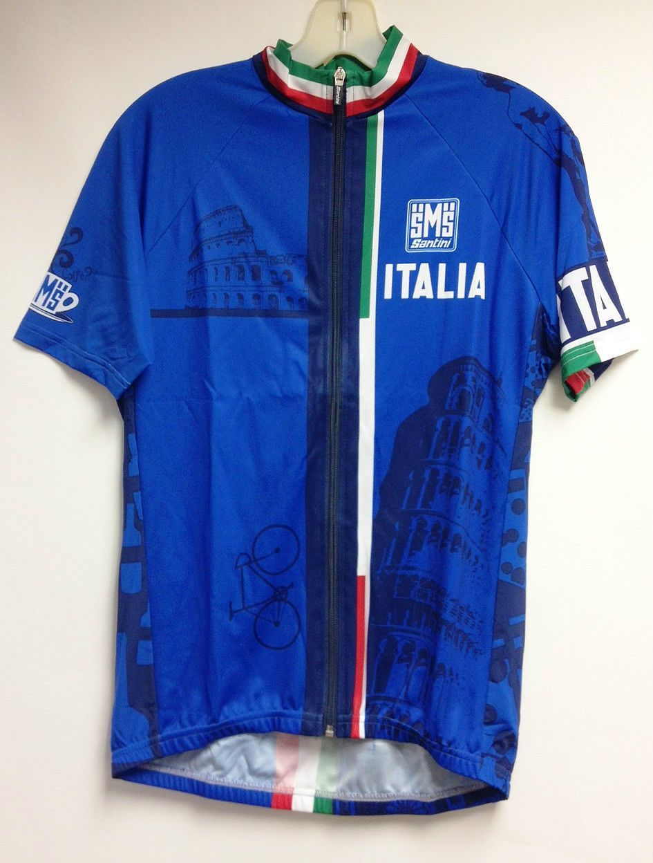 824ad54cd Italia Cycling Jersey in Royal Blue Made in Italy by Santini in 2019 ...