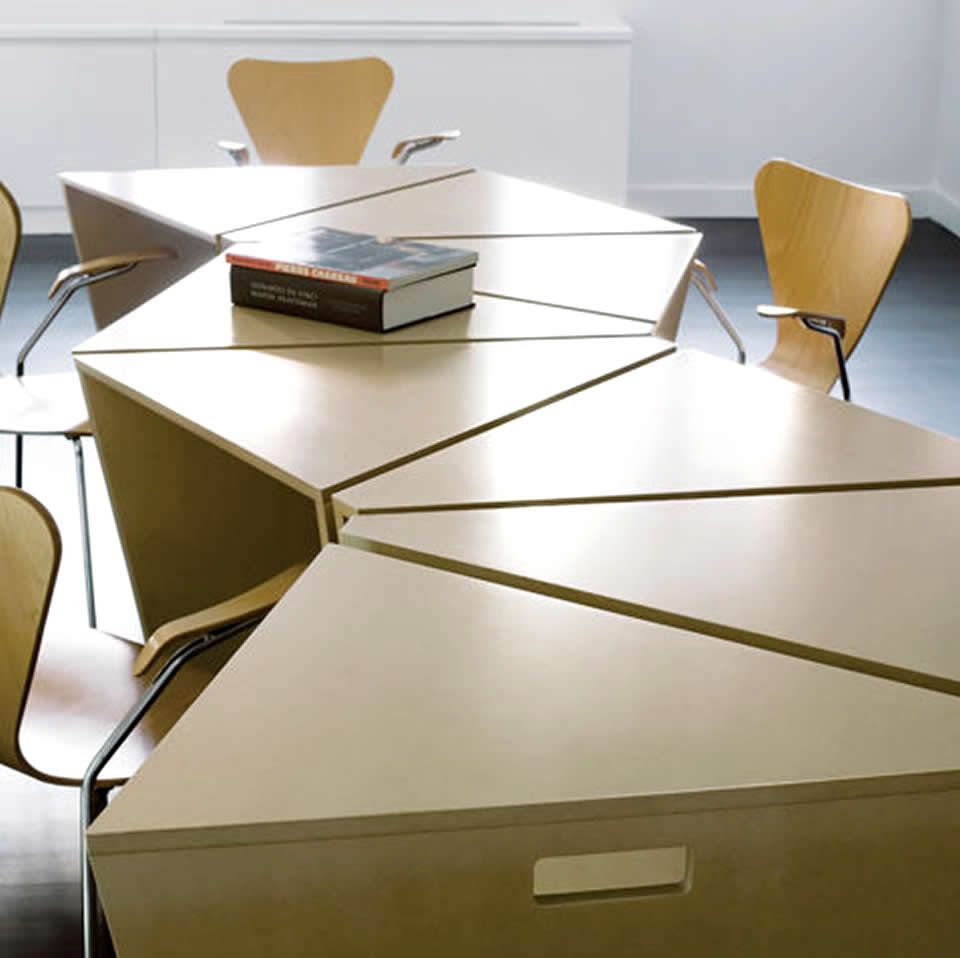 Conference tables these modular tables would be perfect for Table bureau design