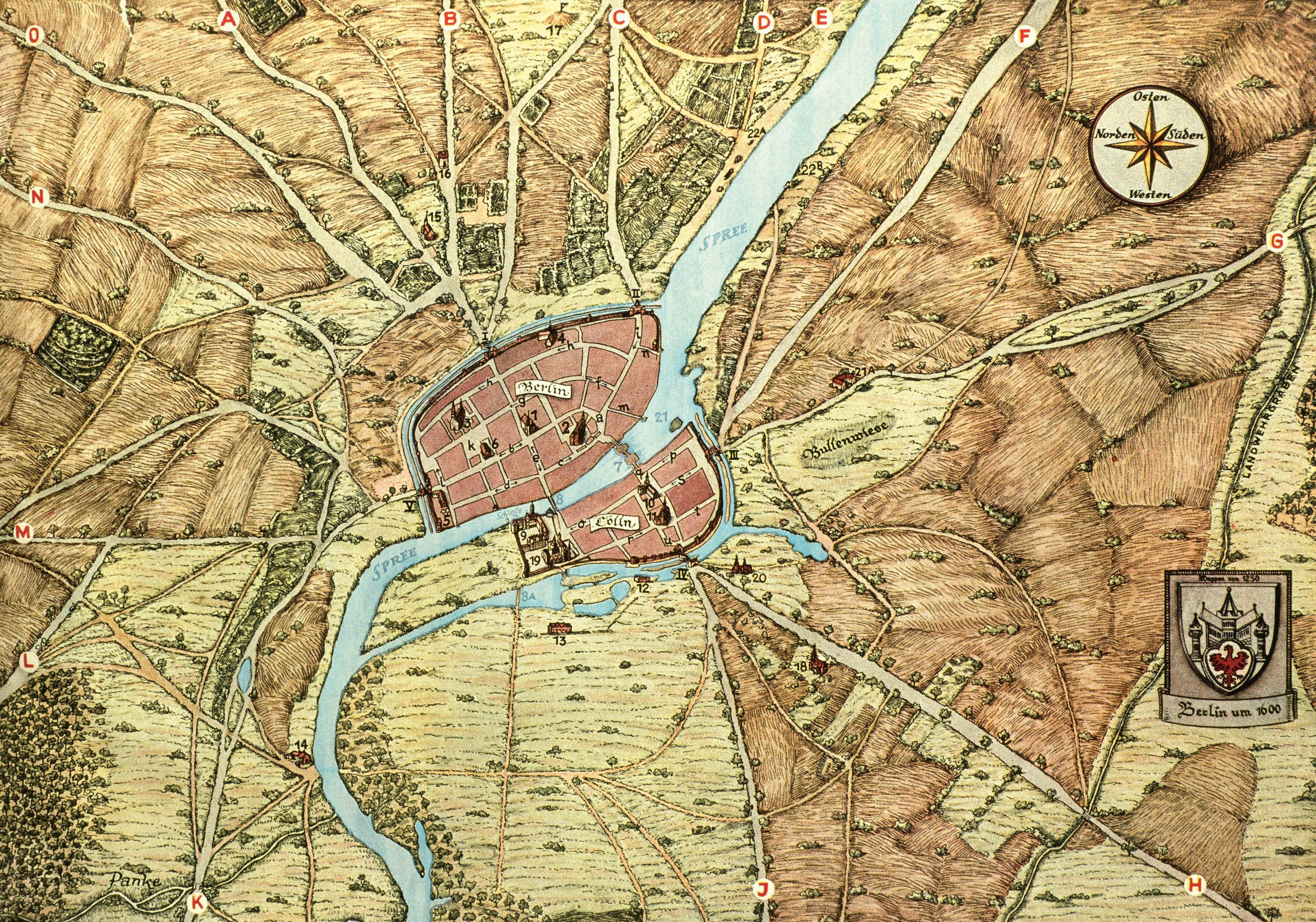 Histoirische Berlin Karte Berlin Geschichte Berlin