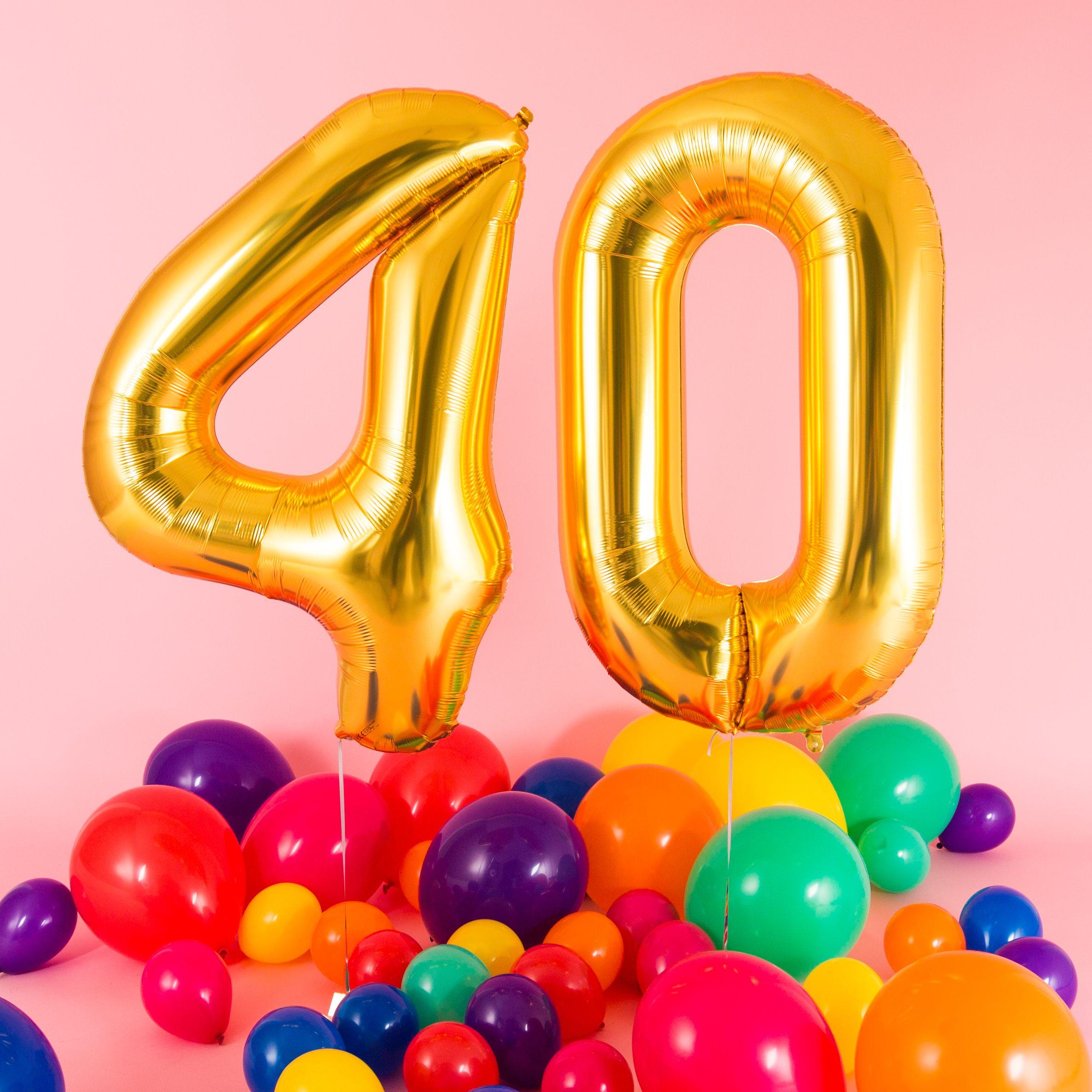 Bubblegum Balloons Birthday Balloons 40th Birthday Rainbow