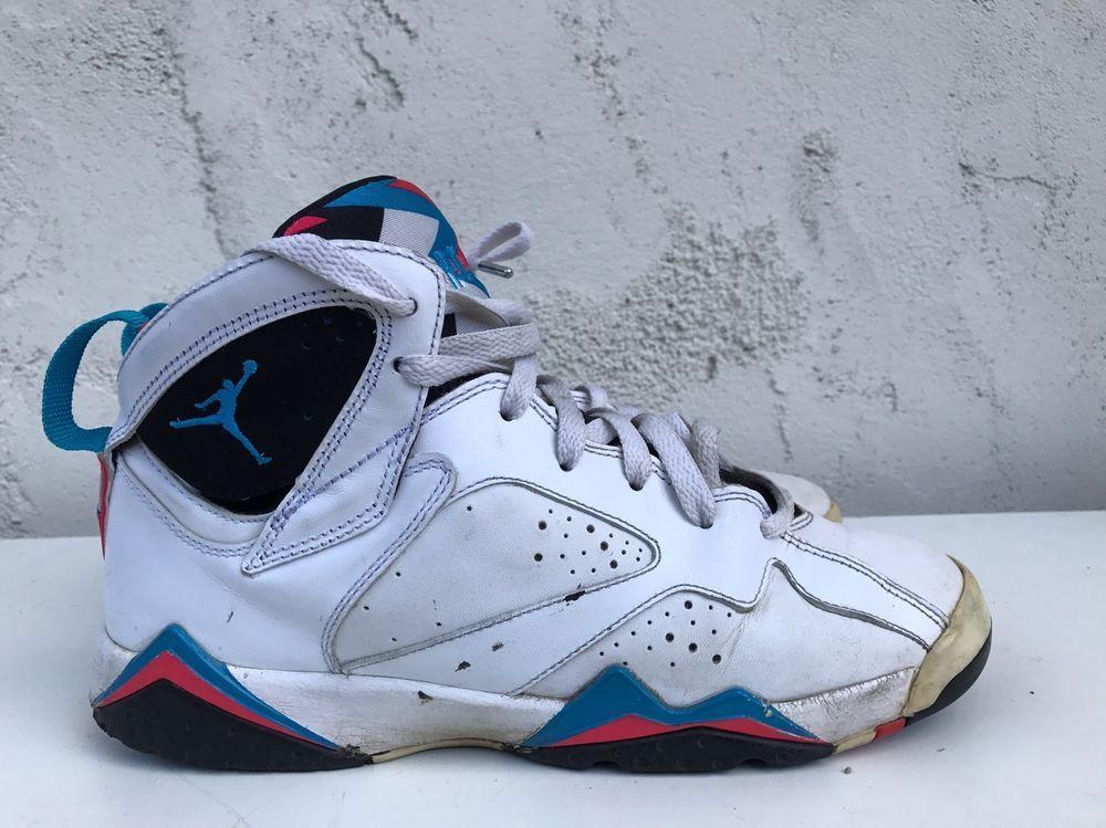 timeless design a9d5b 176e4 eBay  Sponsored Nike Air Jordan VII 7 US 6.5Y Retro White Orion Blue-Black-Infrred  304774 105 GS