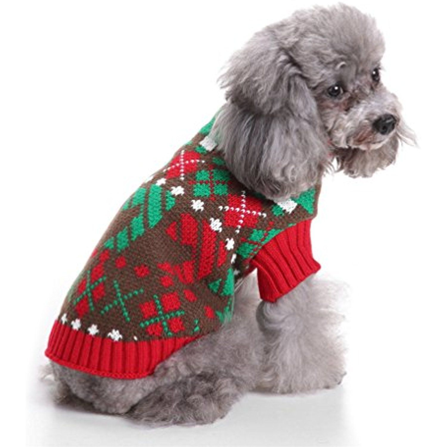 Sawmong Dog Sweater Classic Knitwear Vintage Holiday Festive