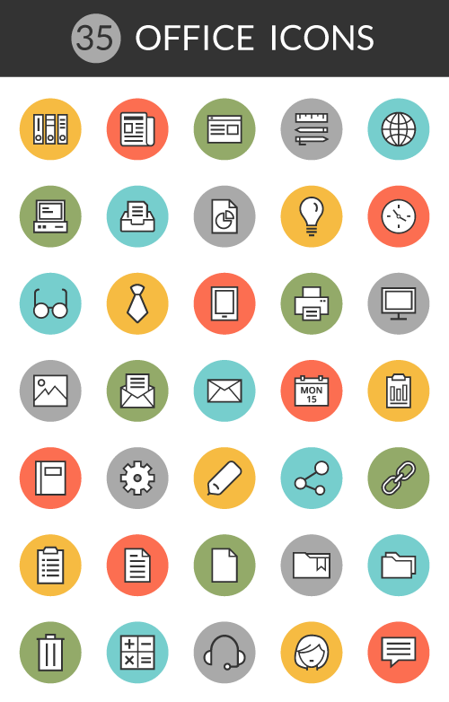 4 Exclusive Free Icon Packs For Download Office Weather Graphic Design Just Creative Office Icon Icon Icon Pack