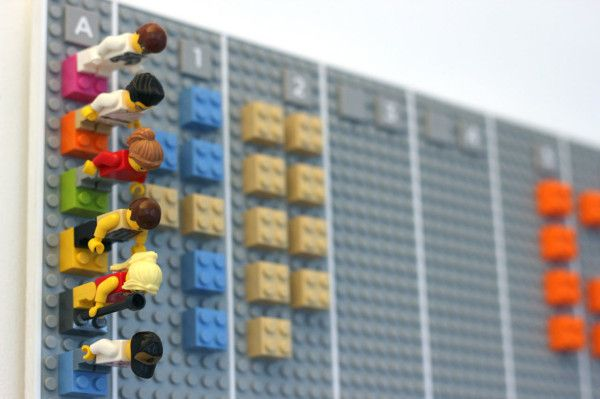 A Wall Mounted Calendar Made From Lego Bricks Design Milk Lego Calendar Wall Planner Lego Wall