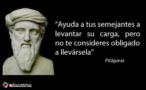 Pitágoras De Samos Fue Un Filósofo Y Matemático Griego