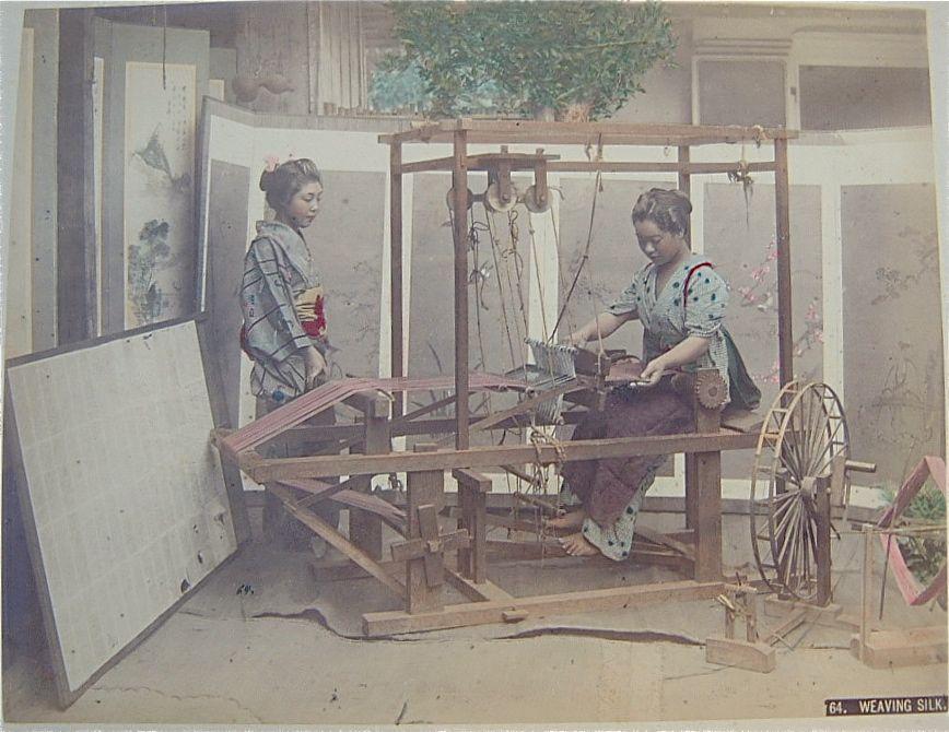Weaving Silk by Kusakabe Kimbei