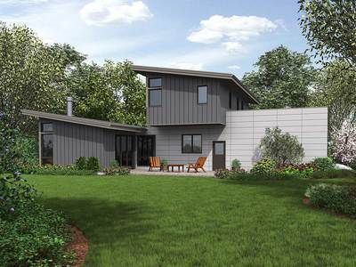 Plan 69635AM Sleek, Modern House Plan Modern house plans, Modern