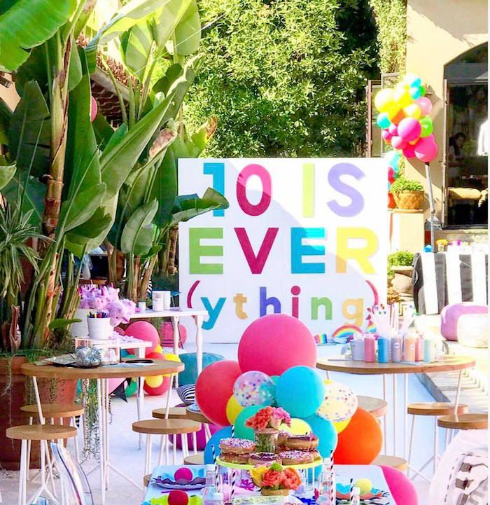 colorful modern 10th birthday party girl party ideas 10th rh pinterest com
