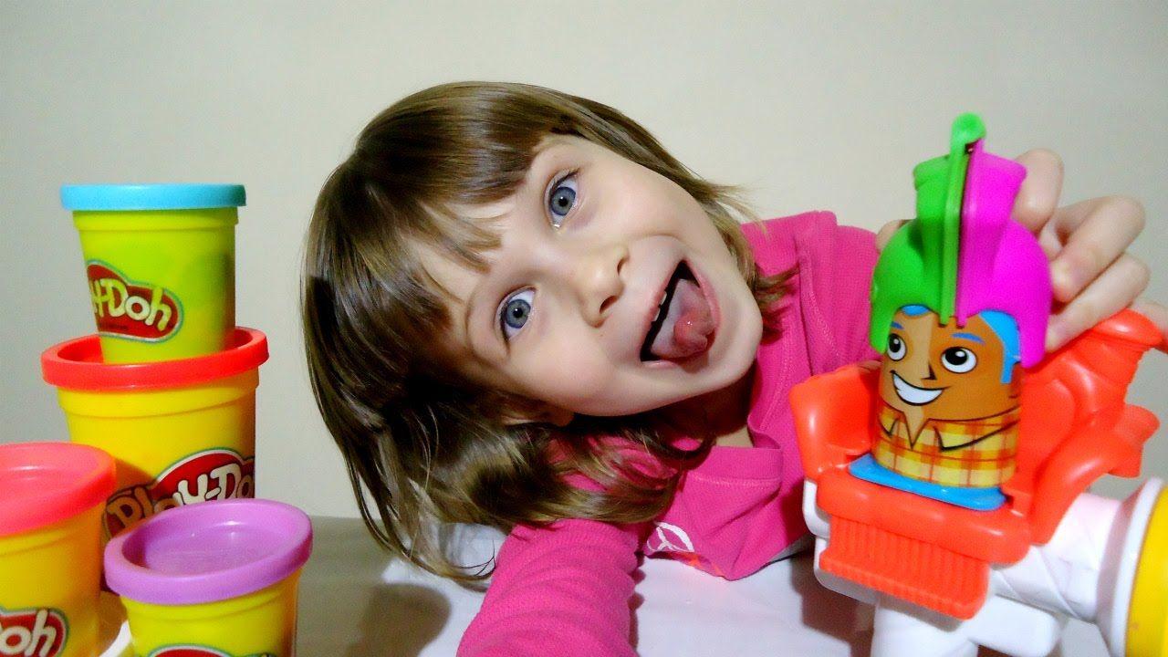 Видео для детей Сумасшедшие Прически Плей До Play-Doh Crazy Cuts Hair De...