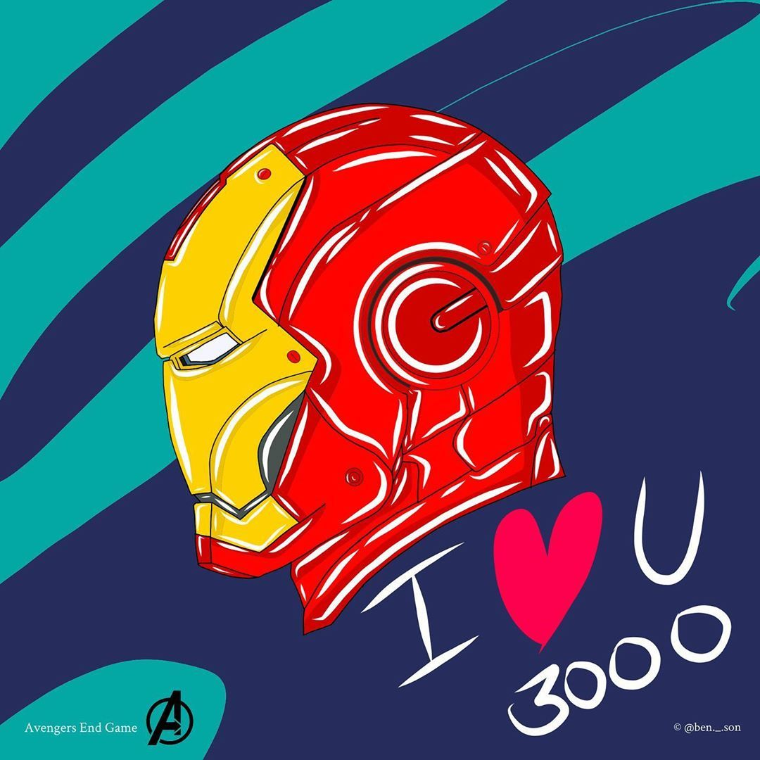 Spiderman Iron Man We Love You 3000 Portrait Paper Poster No Frame US Supplier