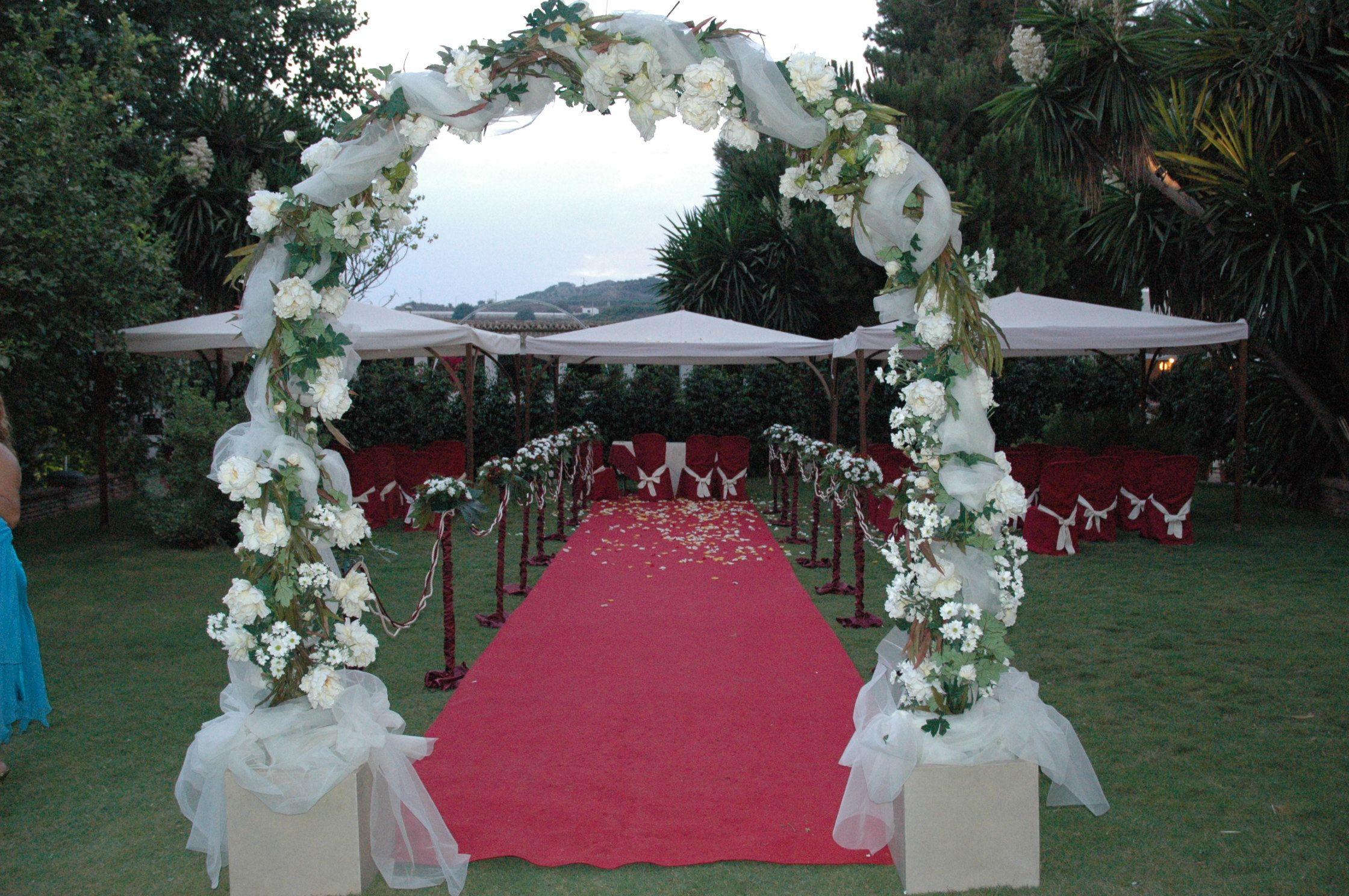 Decoración boda civil.