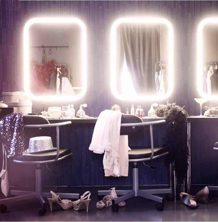 Floating led bath spa lights pinterest led mirror for Illuminated mirrors ikea