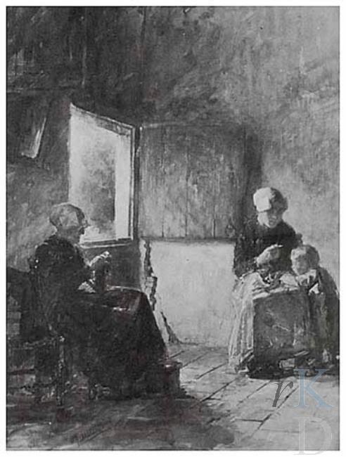 Henricus Joannes Melis Boerderij-interieur 1860-1923 Amsterdam ...