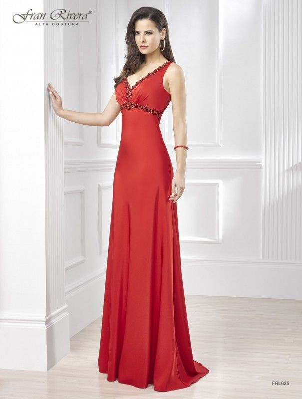 Vestido rojo largo tirantes