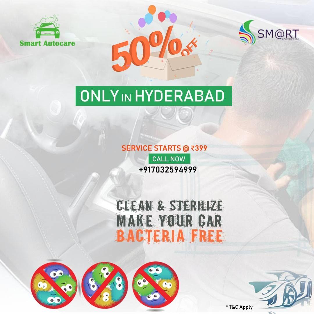 Doorstep steam carwash and car sterilizing Service in