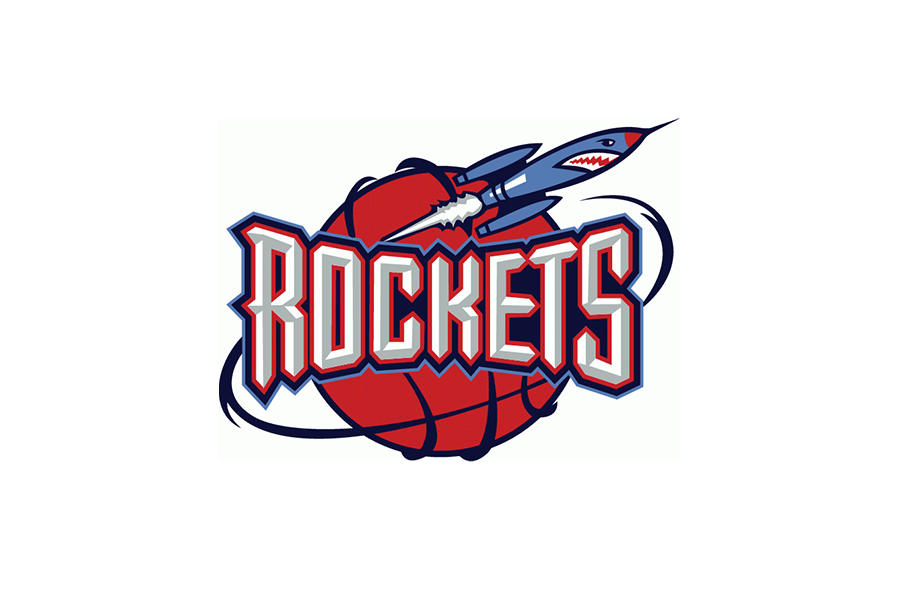 Houston Rockets Logo 1995 96 2002 03 Houston Rockets Rockets Logo Nba Logo
