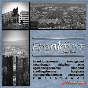 Frankfurt Collage - by L'Horizon Apparel - Männer Vintage T-Shirt