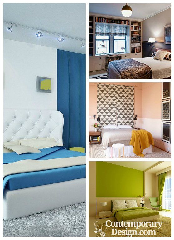Two Colour Combination For Bedroom Walls In 2019 Room Design