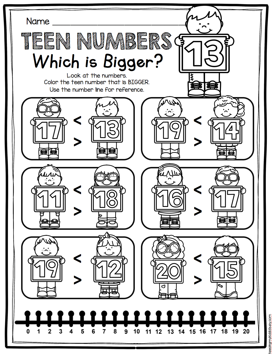 Equal Sign First Grade Worksheet