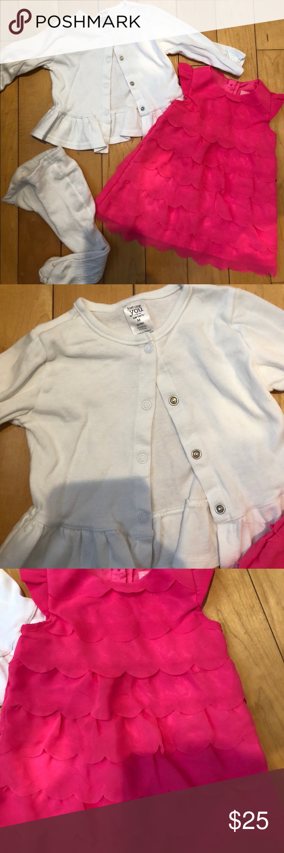 Pink dress baby   items Baby girl dress set