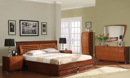 Contemporary Bedroom Furniture Designs Magnificent Luxury Wood Beds Designs And Wood Cabinets In Modern Bedroom Inspiration Design