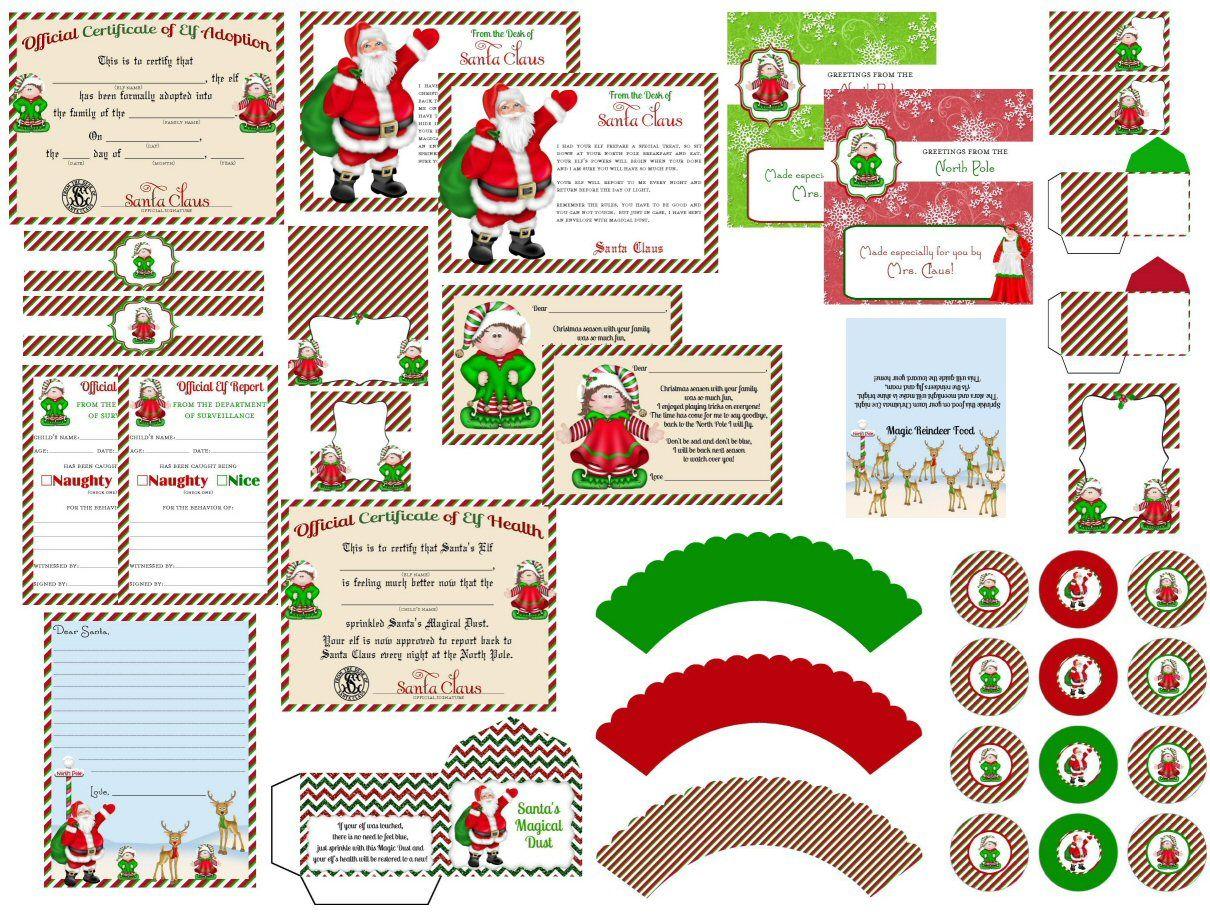 Elf On The Shelf Printable Kit Hello Letter Goodbye