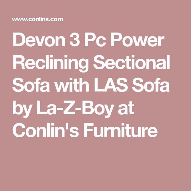 Devon 3 Pc Power Reclining Sectional Sofa with LAS Sofa by La-Z-Boy ...