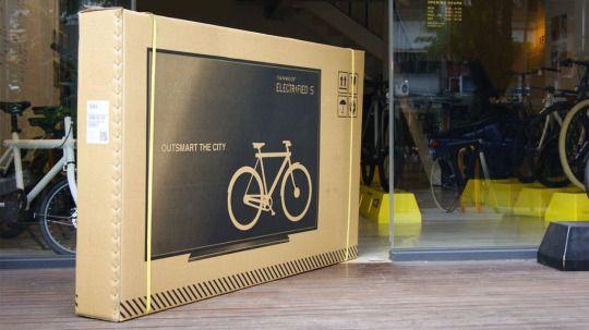 diseño de embalaje de televisión como estrategia para prevenir daños a las bicicletas que llevan dentro
