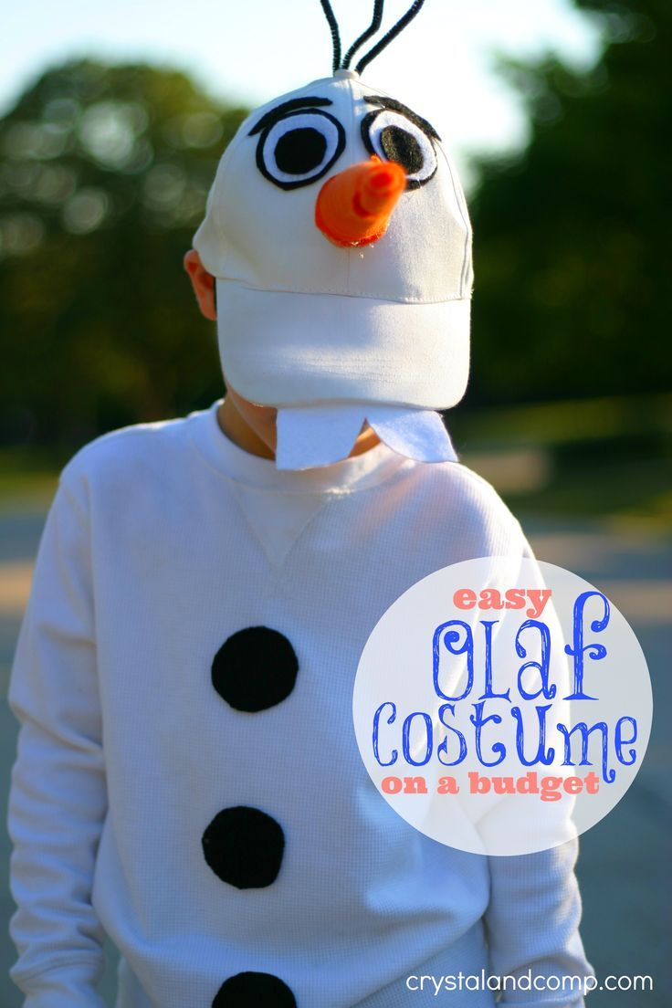 Easy DIY Olaf costume for kids. Budget friendly too! Inexpensive Olaf Halloween costume!